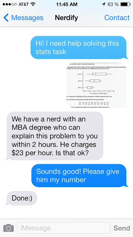 Nerdify nerds can explain even the most complex problems and tasks to you